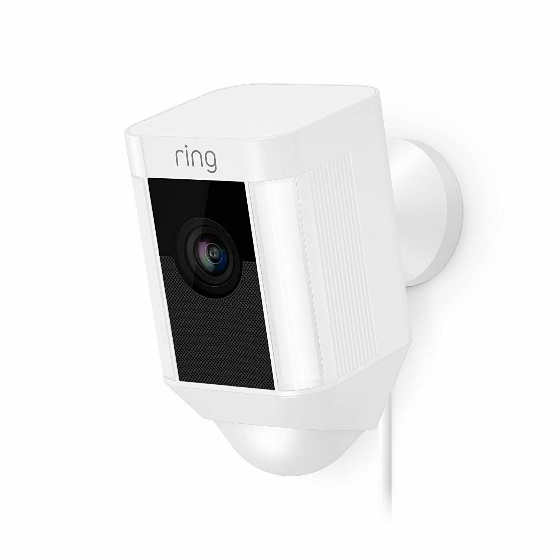 Ring Spotlight Cam Wired HD Security Camera LED Spotlight Two-Way Talk UK Plug