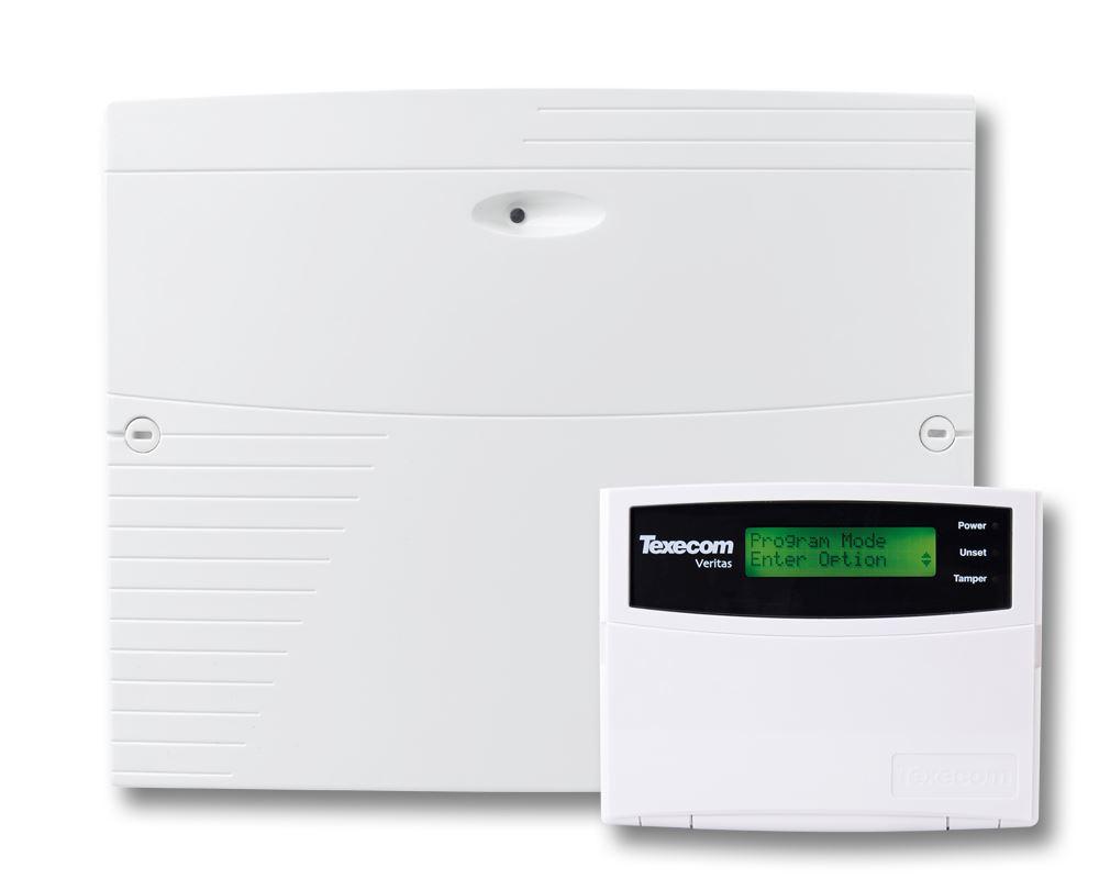 Texecom CFE-0001 Veritas Excel Burglar Alarm Control Panel with Remote LCD Pad