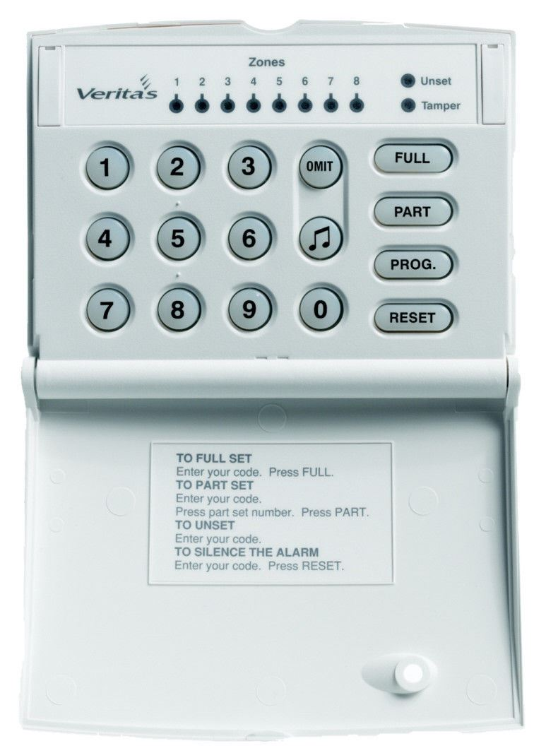 Texecom DCA-0001 Veritas Burglar Alarm Remote LED Keypad for V8 C8 and R8