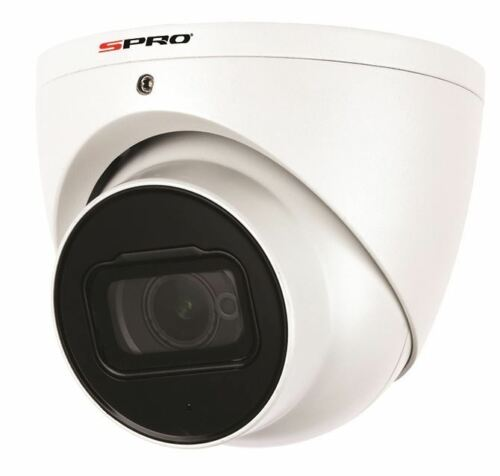 Spro 8MP DOME, 2.8MM, SMART IR, STAR LIGHT, MICROPHONE, 50M IR -White