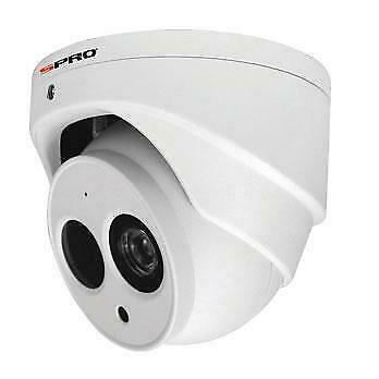 Spro 4MP 2.8mm Lese Turret IP PoE Network CCTV Camera with built-in Microphone- White