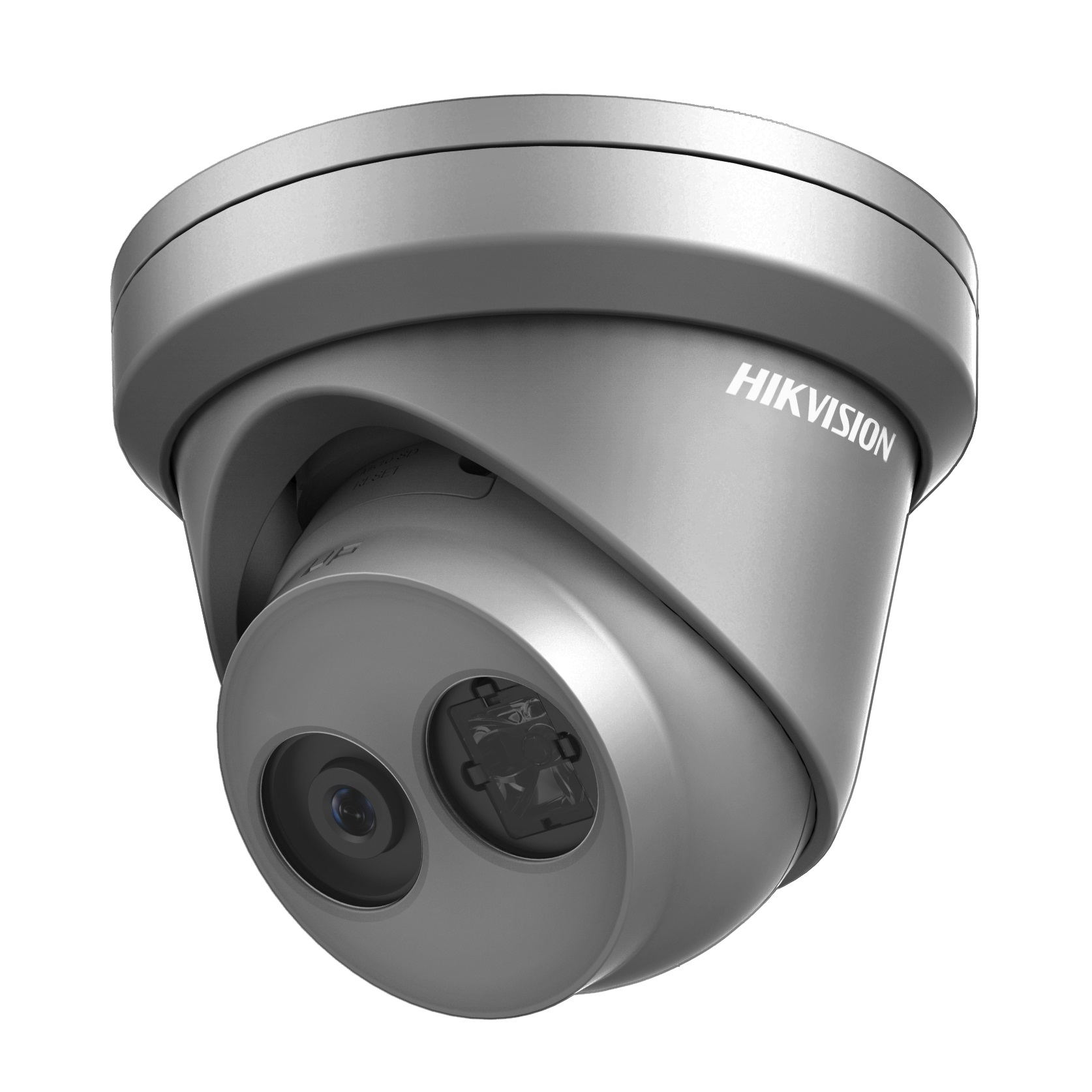 Hikvision 6MP 2.8mm fixed lens turret IP Network PoE camera with IR 30m 120dB – Grey