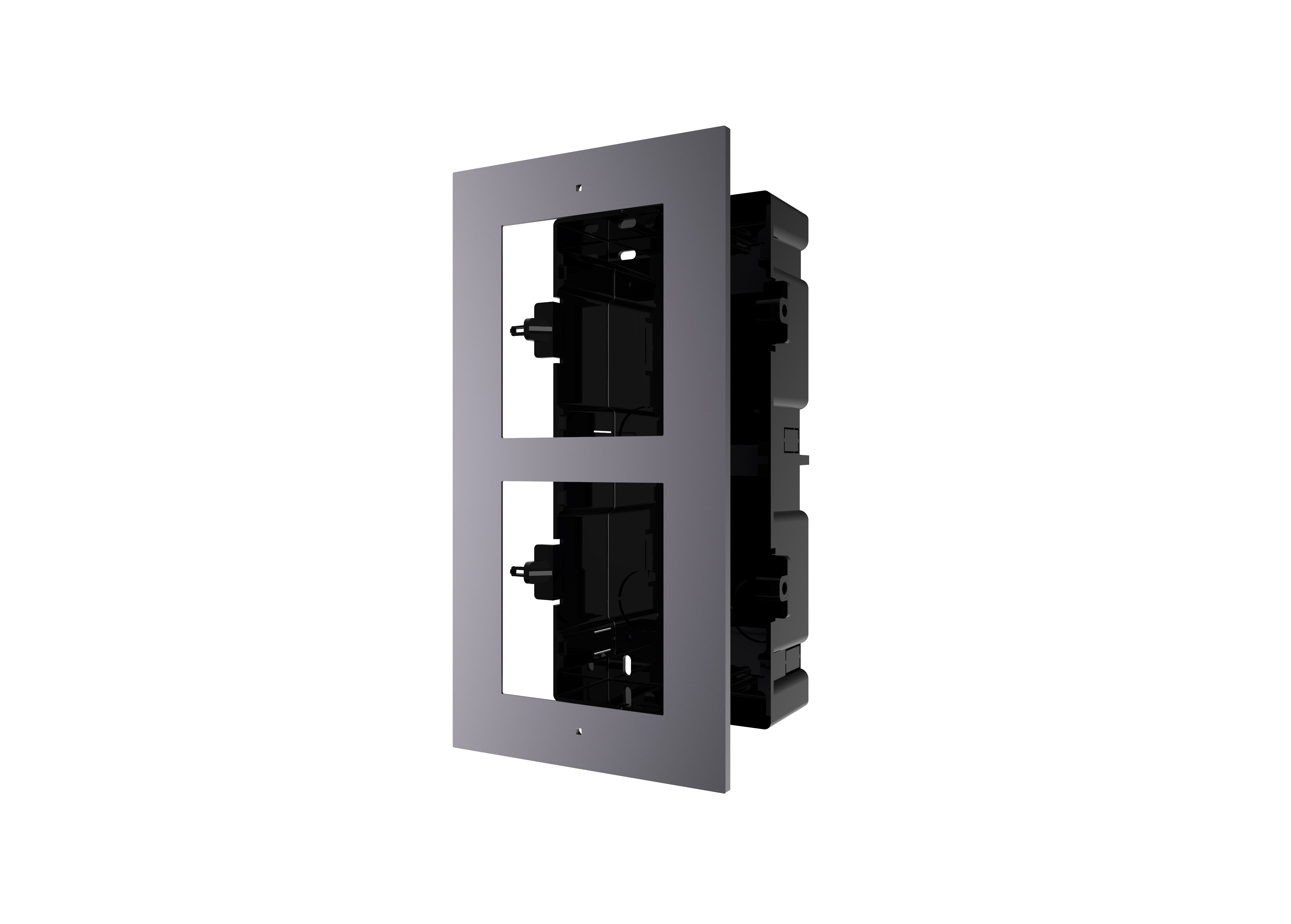 HIKVISION DS-KD-ACF2/PLASTIC 2 way flush mounting bracket for modular door station
