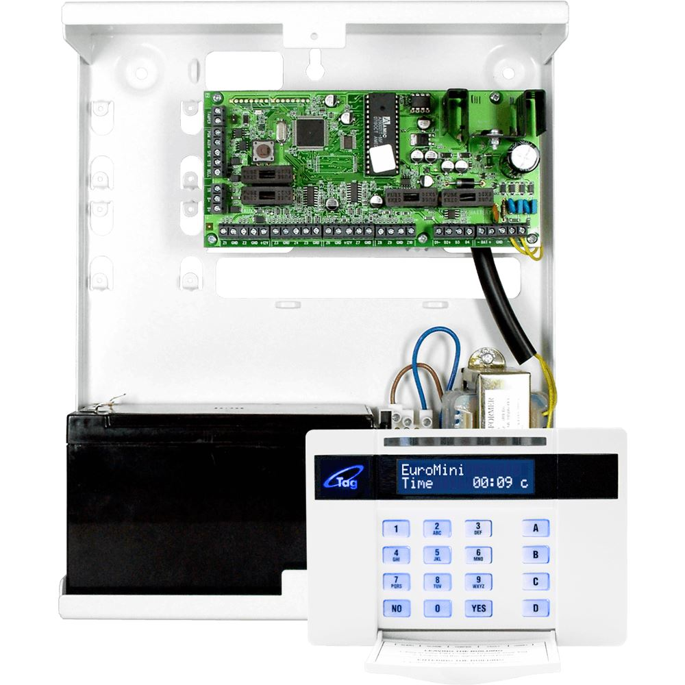 Pyronix Euro Mini EUR-MINIP 10 Zone Panel with LCD Prox Keypad Grade2