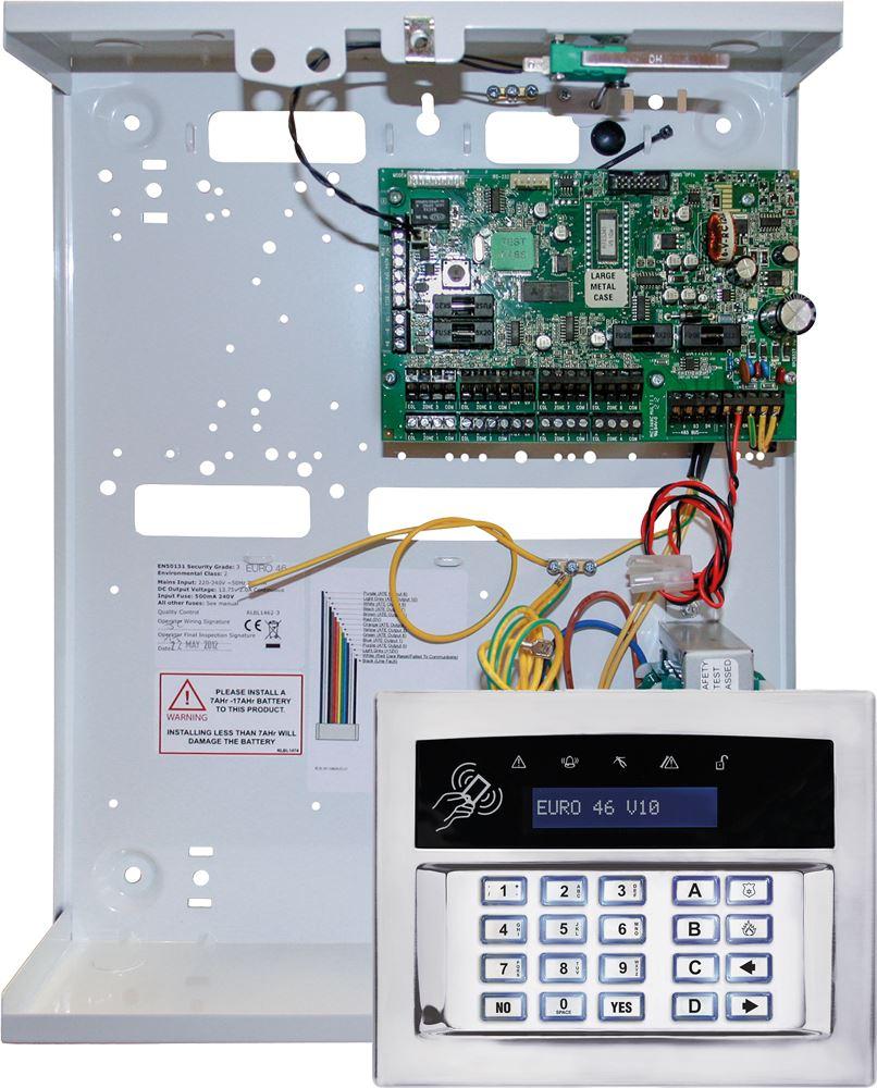 Pyronix Wired EURO46/S Euro 46 v10 Hybrid Zone Small Control Panel + Keypad