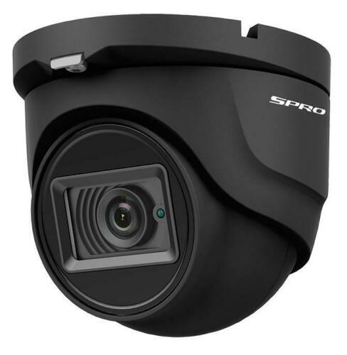 SPRO 4K (8MP) 2.8mm 4 in 1 TVI/AHD/CVI/CVBS Eyeball CCTV Camera 30m IR IP67- Grey
