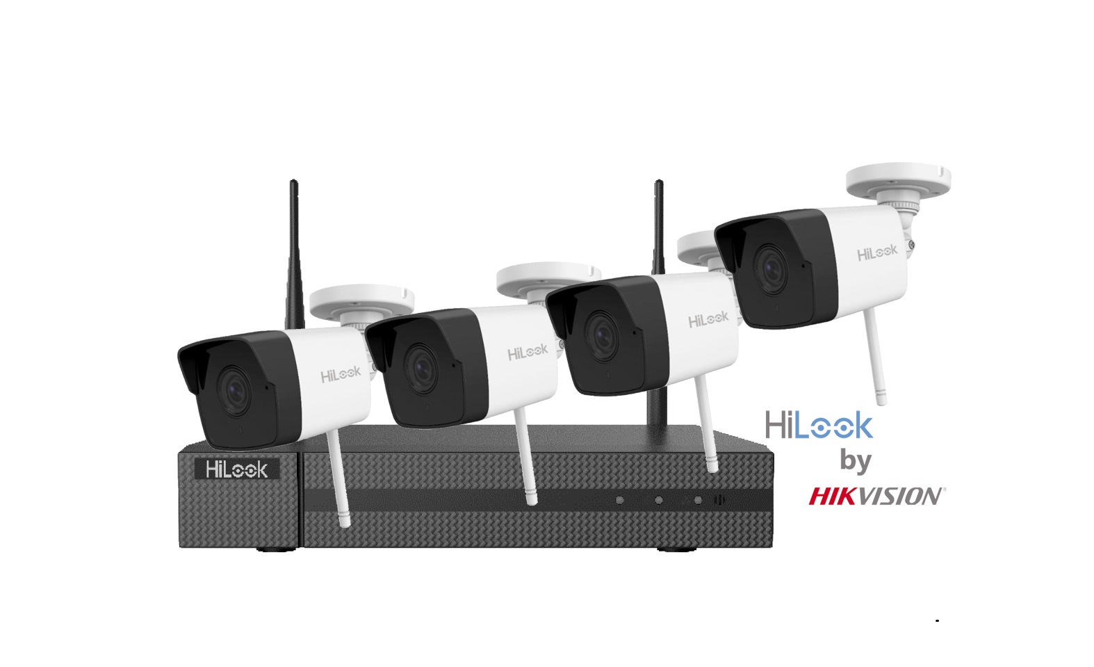 HiLook By Hikvision IK-4142B-MH/W Wireless 4 Channel NVR with 2MP Wireless Cameras CCTV KIT with 1TB HDD