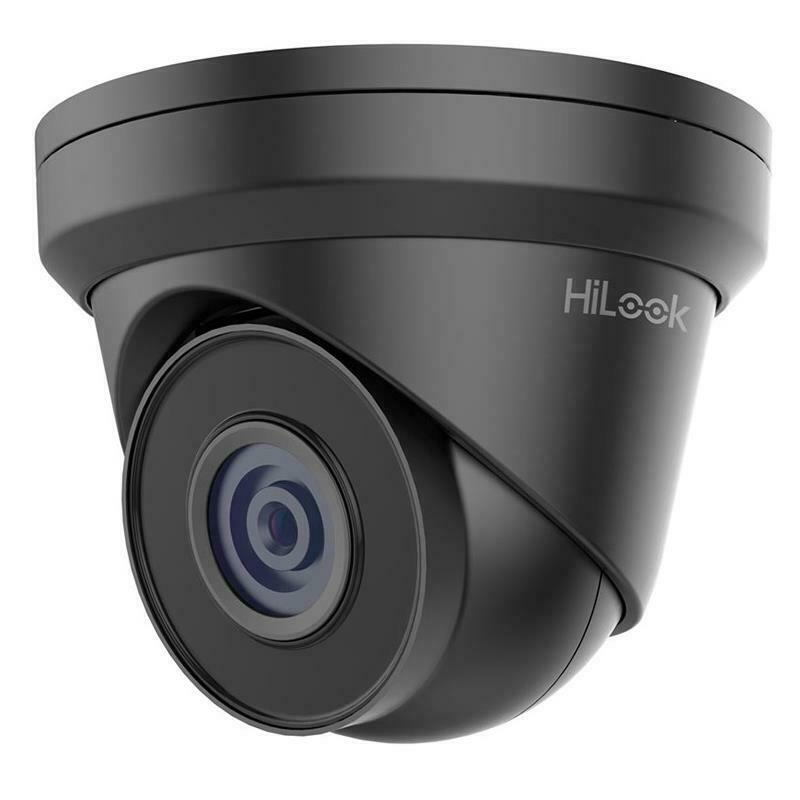 HiLook by Hikvision IPC-T250H(4mm) 5MP CMOS Network Turrent PoE CCTV Camera IP67 - Grey