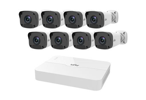 Uniview 8 Channel NVR 2MP HD NVR301 & 8 x 2MP 4mm Bullet IP Cameras CCTV KIT - 2TB
