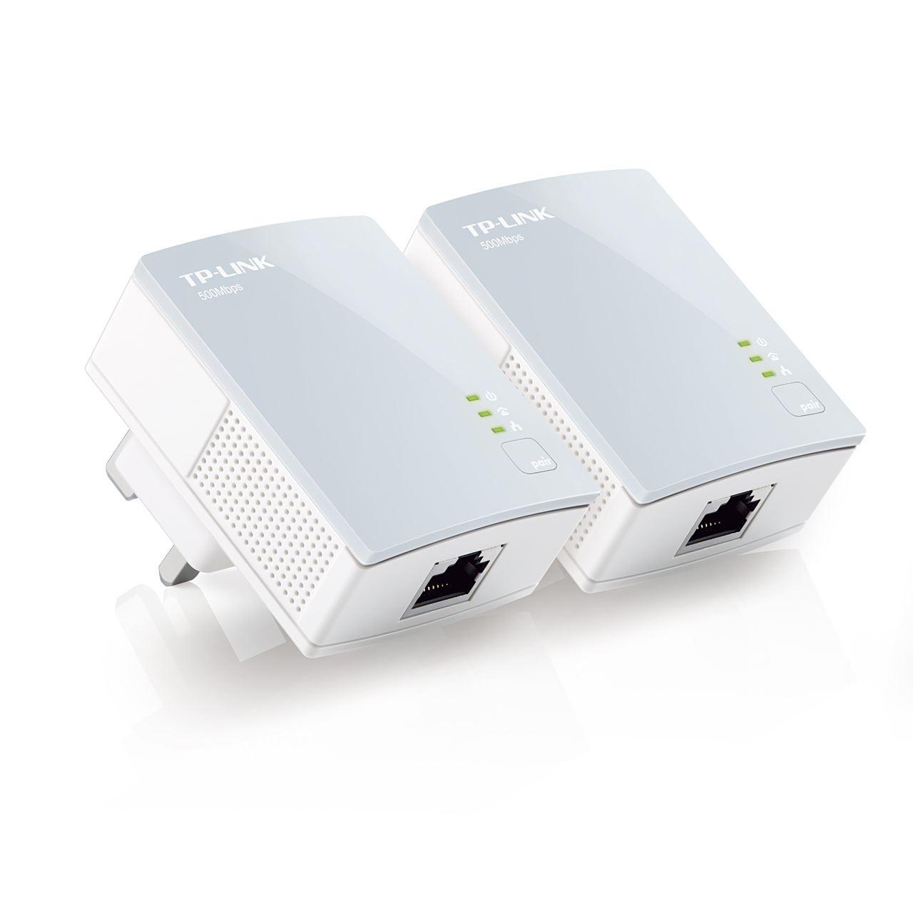 TP-LINK TL-PA411KIT AV500 500 Mbps Powerline Adapter Starter Kit Ethernet plug Manufacturer Refurbished