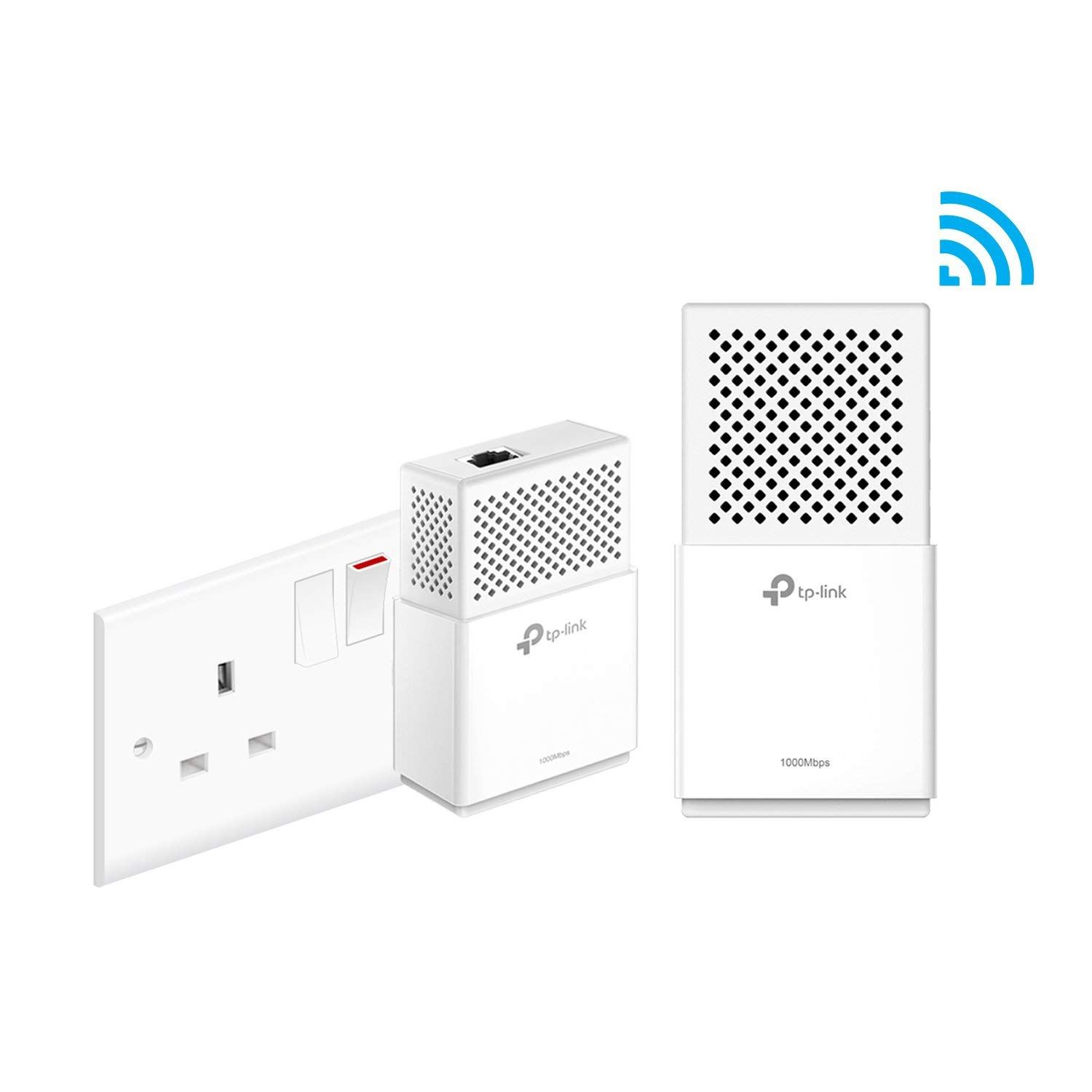 TP-Link TL-WPA7510 KIT AV1000 Gigabit Powerline AC750 Wi-Fi Booster Extender UK Manufacturer Refurbished