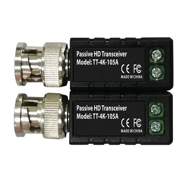 OYN-X TT-4K-105A Single Channel Passive Video HD AHD CVI 4K Balun Twin Pack