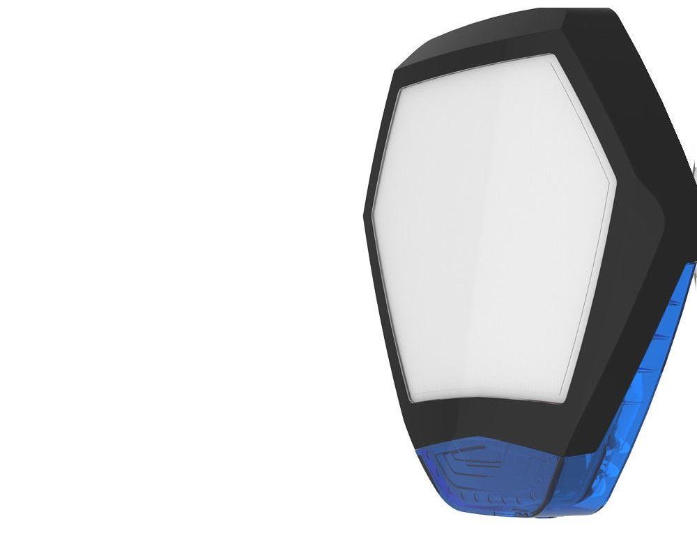 Texecom WDB-0004 Odyssey X3 Octagonal Front Cover for Odyssey X3 - Black/Blue