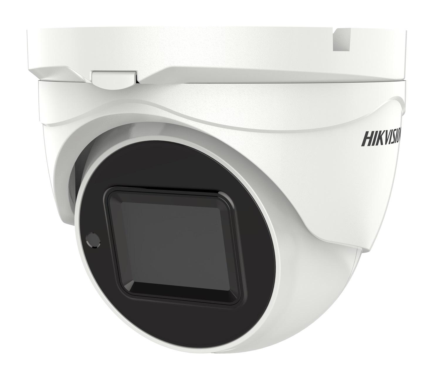 Hikvision 5MP motorized varifocal lens PoC turret camera